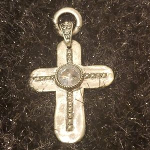 Vintage Pewter Cross Pendant